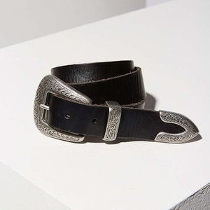 Urban Outfitters black belt with silver details